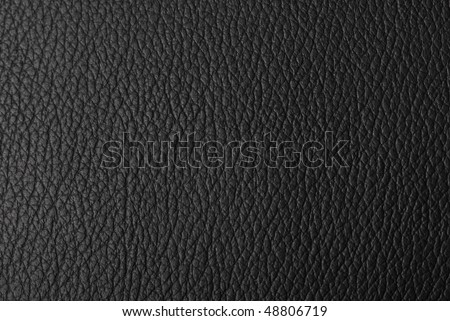 Black leather surface - stock photo