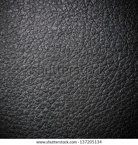 Black leather surface for background - stock photo