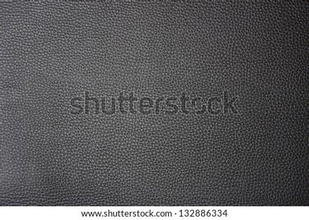 Black leather texture - stock photo