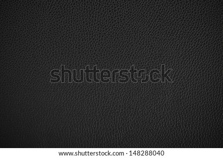 Black leather texture. - stock photo
