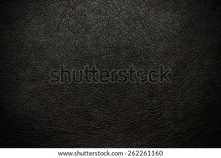 Black leather texture background surface - stock photo