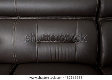 black leather texture close-up, couch