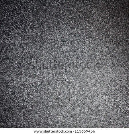 Black leather texture for background / Black leather texture made from deer skin
