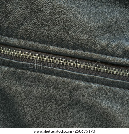 black leather texture, zipper