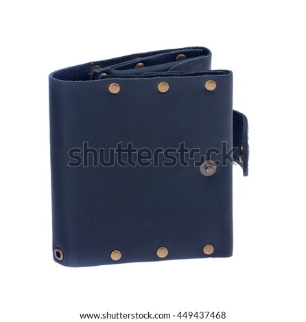 black leather wallet on the buttons, excellent quality leather, handmade