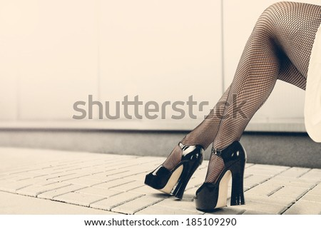 black legs  - stock photo