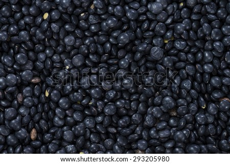 Black Lentils image for use as background or as texture