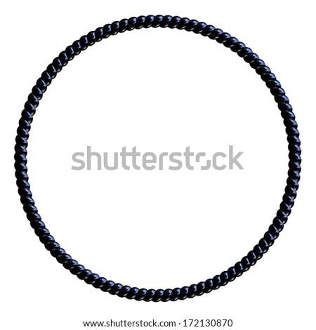 Black Licorice circle frame isolated on white - stock photo