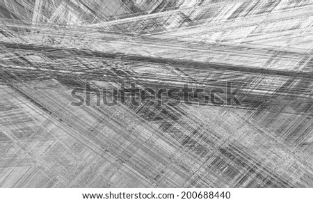Black line drawing abstract - stock photo