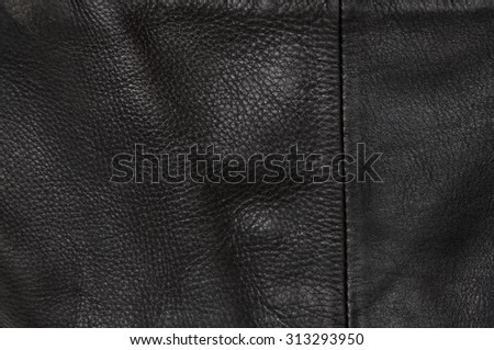 Black luxury natural leather texture background - stock photo
