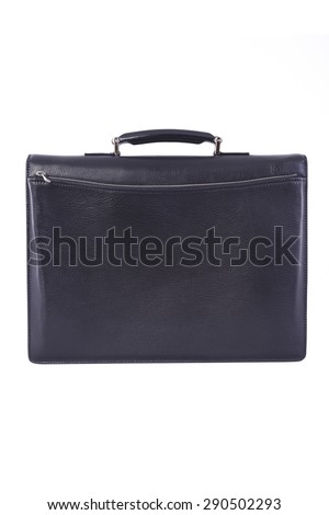 black male briefcase on a white background
