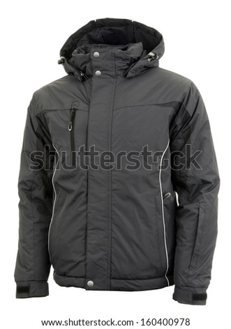 Black male winter jacket