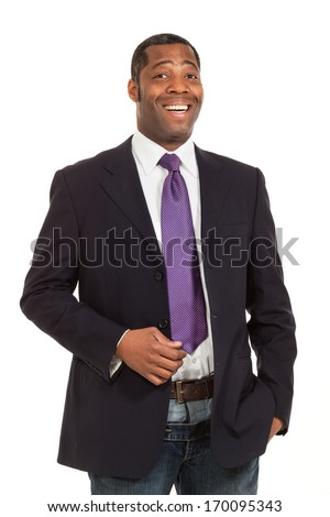 black man of african ethnicity, studio portrait, isolated on white background
