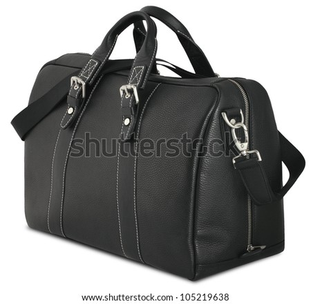 Black man's bag isolated on white background