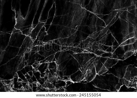 black marble patterned texture background , abstract marble in natural patterned. - stock photo