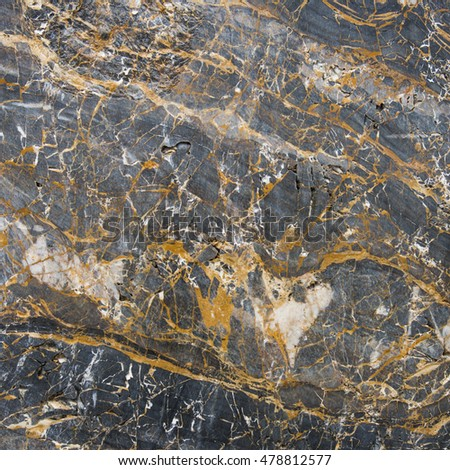 Black marble stone surface for decorative works or texture
