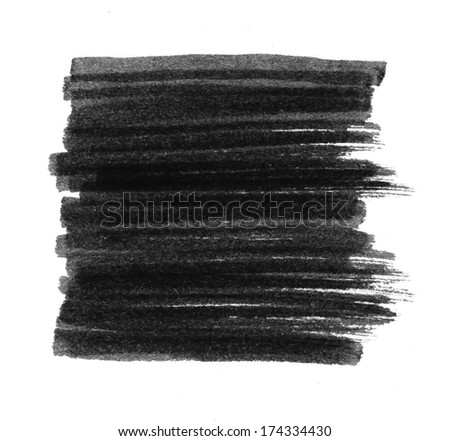 Black Marker Stain, raster illustration  - stock photo