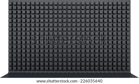 black matted panel with a variety of cubes with rounded corners - stock photo