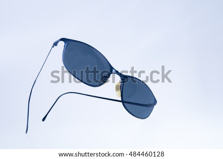 Black men sunglasses on isolated white background