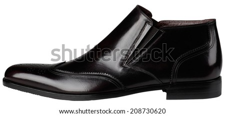 Black Mens Classic Shoes isolated on white background