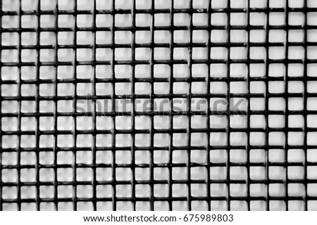 Black mesh on a white background
