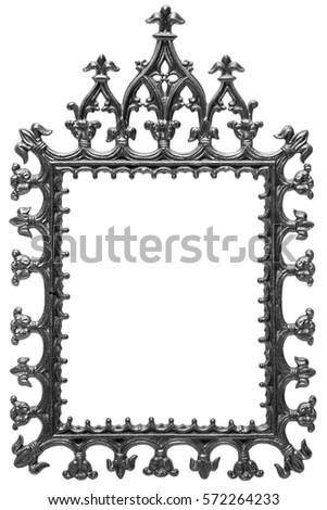 black metal frame for a mirror shot on white background - Wrought Iron Picture Frames
