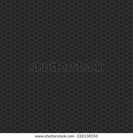 black metal hexagon texture - stock photo