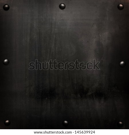 black metal plate - stock photo