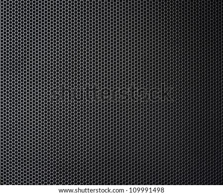 black metallic honeycomb grid texture pattern - stock photo