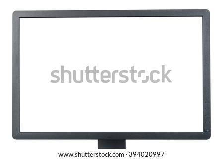 black monitor on white background