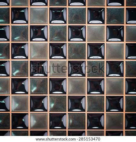Black mosaic textures for background - vintage processing style
