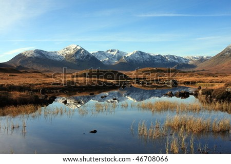 Black Mount and Lochan na Stainge.