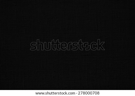 black natural linen rough texture for the canvas  background - stock photo