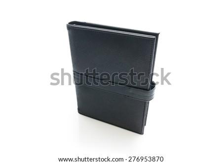 black note book - stock photo