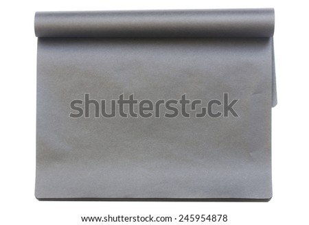 Black notebook - stock photo