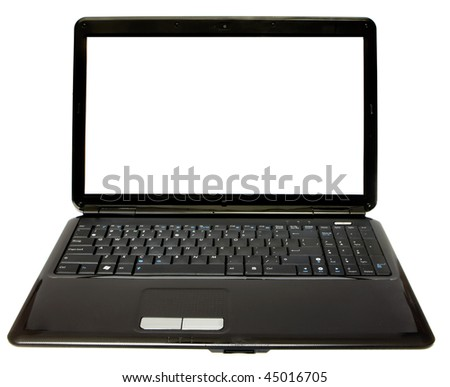 black notebook on a white background isolated