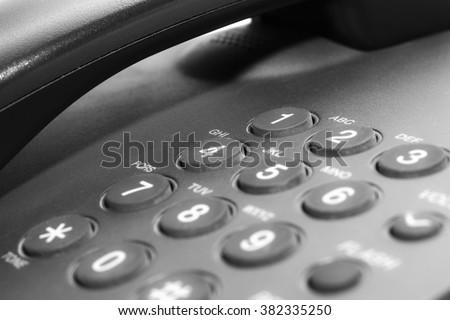 black office ip phone isolated on white background stock photo awesome office table top view shutterstock id