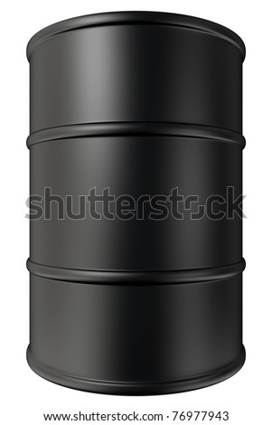 Black oil tank isolated on white background