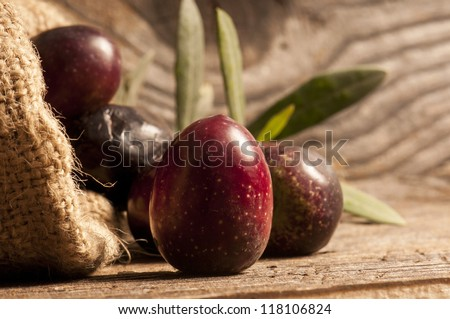 black olives - stock photo