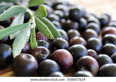 Black Olives 4 - stock photo