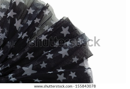 black organza - stock photo