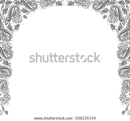 black ornament background with place for your text. illustration - stock photo