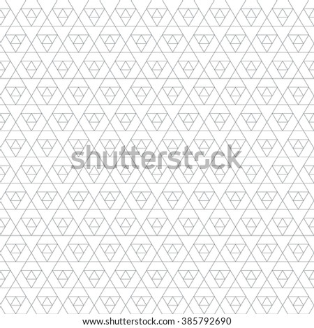 black outline triangle sacral geometry abstract seamless pattern isolated white background