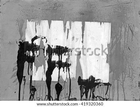 Black paint graffiti  - stock photo