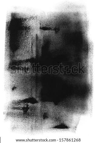 Black Paint Texture - stock photo