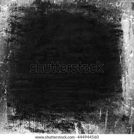 black painted wall texture grunge background - stock photo