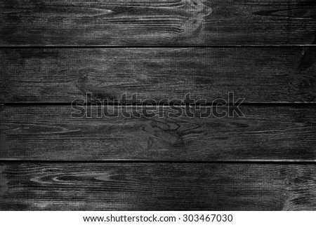 Black painted wooden planks background - stock photo