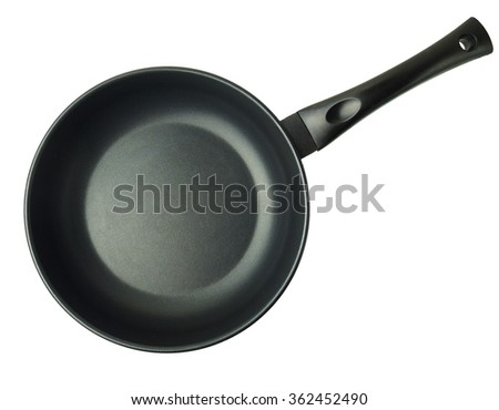 black pan isolated on white background