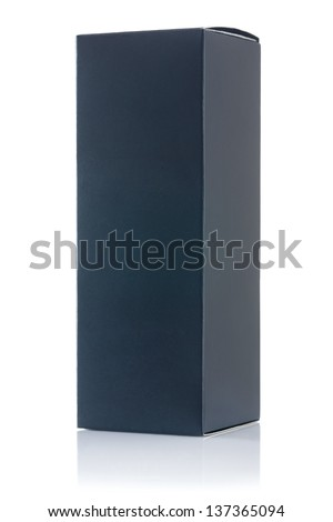 black paper box isolated - stock photo