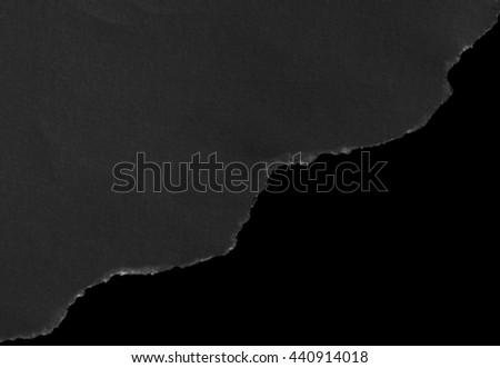 black paper isolated on black background with clipping path.